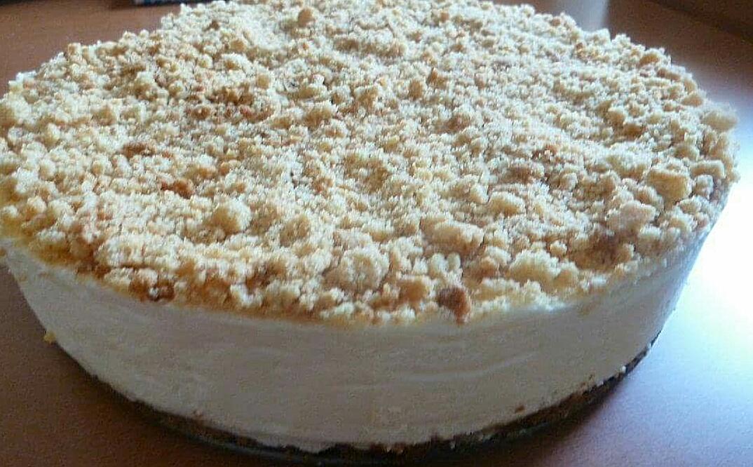 עוגת פירורים גבינה