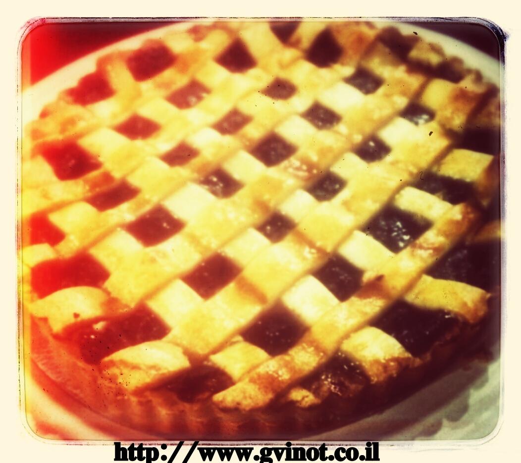 עוגת תפוחים ומשמש ללא גלוטן