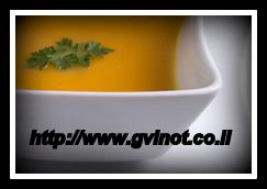 מרק ירקות כתומים וערמונים