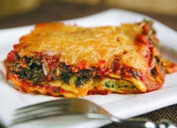 מתכון לזניה גבינה ועשבי תיבול